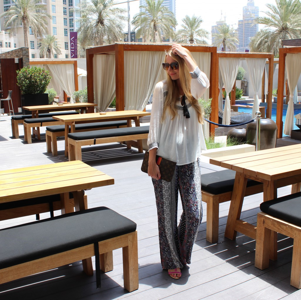 Downtown Outfit, Baby! Dubai Vida Hotel Downtown Outfit Travel