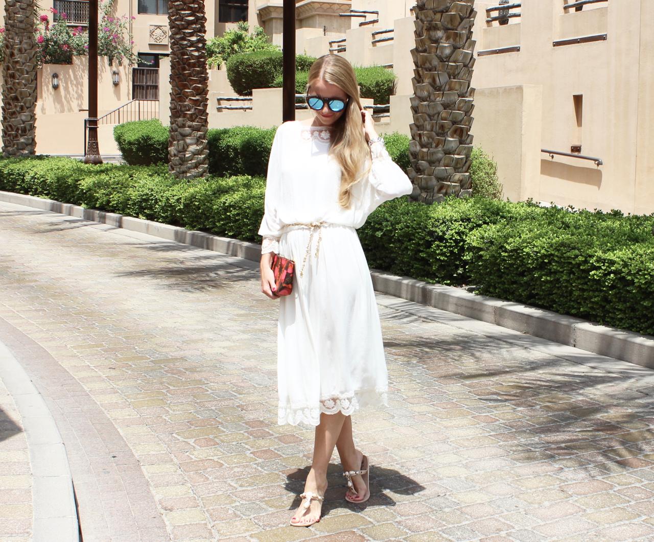 Throwback Outfit Downtown Dubai Jennifer PepperAndGold UAE VAE Emirates Fashion Zara BestSecret LV LouisVuitton