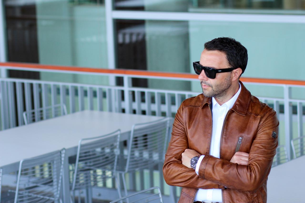 Endlich Lederjackenzeit mit Hugo Boss Herbst Mode Fashion Lifestyle Leder Leather Outfit Dirk PepperAndGold Adidas Adidas Originals Seidensticker BossOrange Autumn Fall Tailored