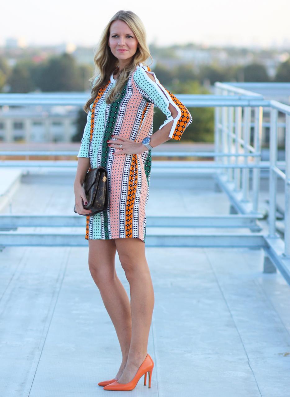 OHHH OHHH SANDRO Jennifer Fashion Outfit Mode Zara Kleid Dress LoiusVuitton LV LVOE Monogram Pochette Metis Pumps