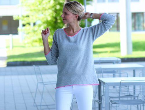 Pastelltöne im Oktober StadtLandStil SugarTrends Zara Samt Velvet Outfit Jennifer Fashion Mode PepperAndGold Jeans Denim Highheels Lifestyle