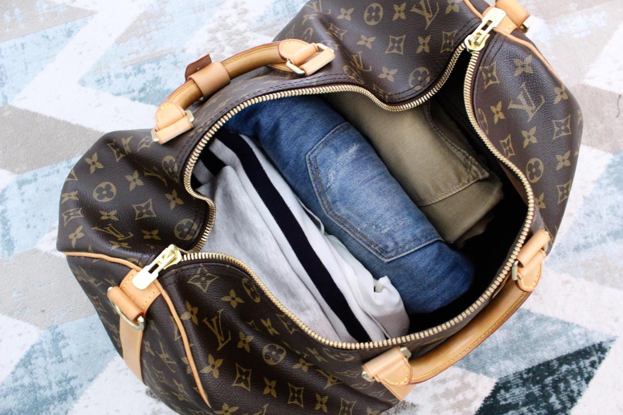 1cfc8467c4a93 Louis Vuitton Keepall Guide Jennifer LV LVOE Monogram Damier MonMonogram  Reisen Travel Reisetasche Weekender Urlaub Handgepäck