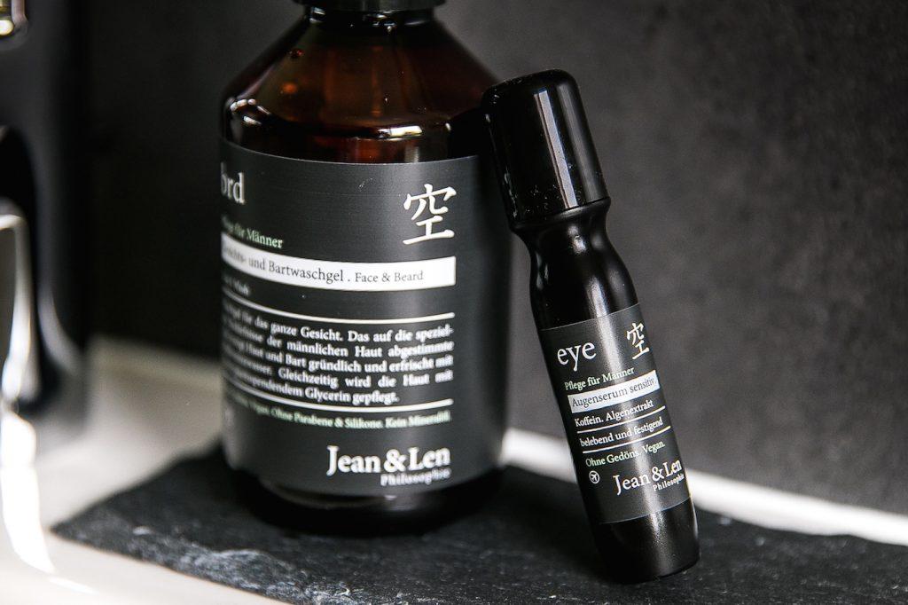 Kosmetik und Pflege sind auch Männersache Cosmetics Beauty Treatment Creme Lotion Drogerie DM Jean&Len OhneGedöns Parabene Pflegeroutine Männerkosmetik
