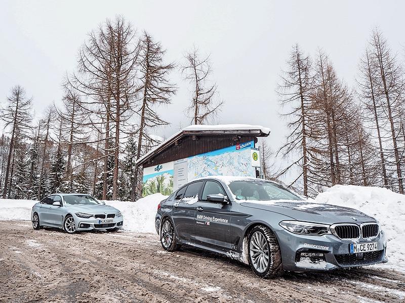 BMW 4er Gran Coupé und 5er im Schnee BMW Driving Experience Ice and Snow