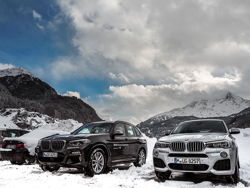 BMW X3 und X4 im Schnee BMW Driving Experience Ice and Snow