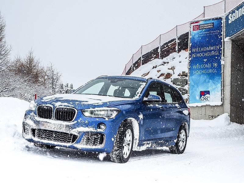 BMW X1 BMW Driving Experience Snow and Ice Winterlandschaft Tirol Sölden Hochgurgl