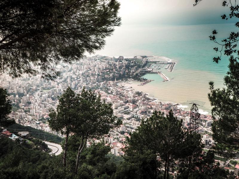 Der Libanon - viel mehr als nur Beirut Ausblick von Harissa