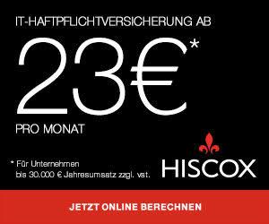 Mit Hiscox top versichert im Beruf