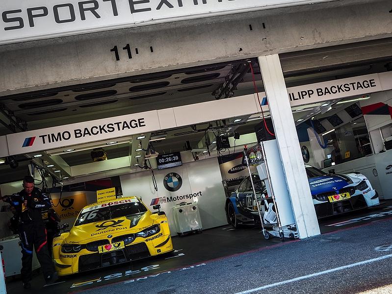 Hockenheimring DTM Boxengasse Pit Walk Timo Glock Philipp Eng BMW M4