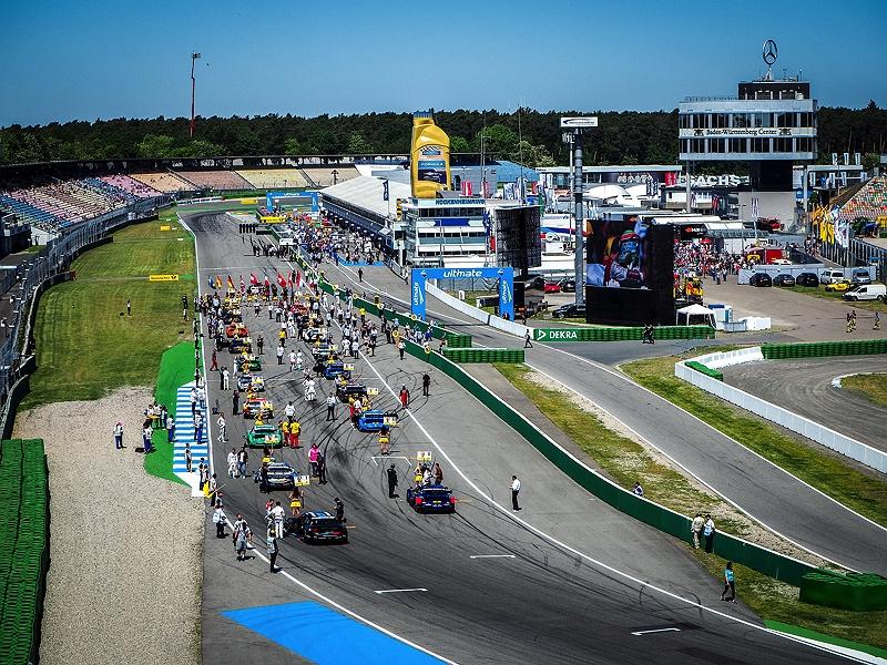 Hockenheimring DTM 2018 View Grid Startaufstellung