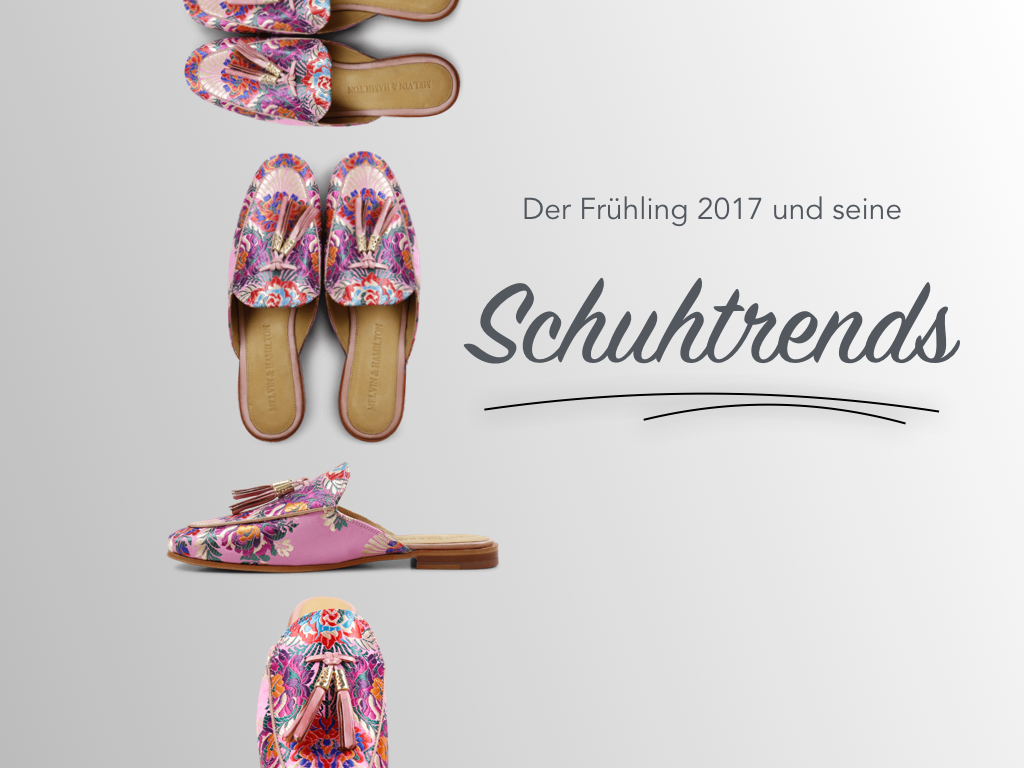 Die Schuhtrends des Frühlings 2017 Melvin&Hamilton Schuhe Loafer Pantoletten Mules Leder Quasten Blümchenprint Perlen Pailletten Jennifer PepperAndGold Fashion Lifestyle Mode Trends Outfit OnlineShop