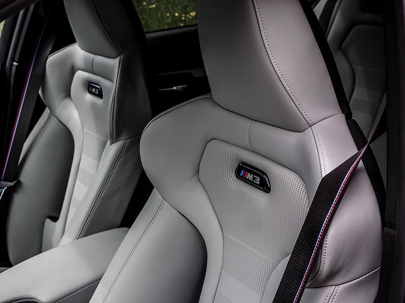 BMW M3 Innenraum Lederausstattung Opal weiß
