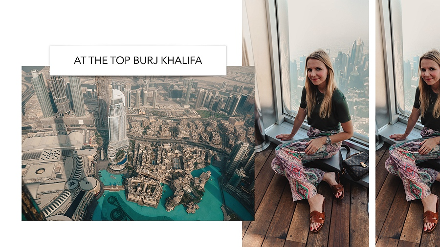 Dubai Burj Khalifa At the Top Ausblick Sonnenuntergang