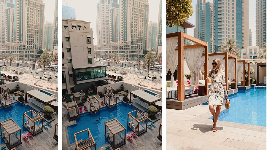 VIDA Downtown Dubai Pool Ausblick Burj Khalifa