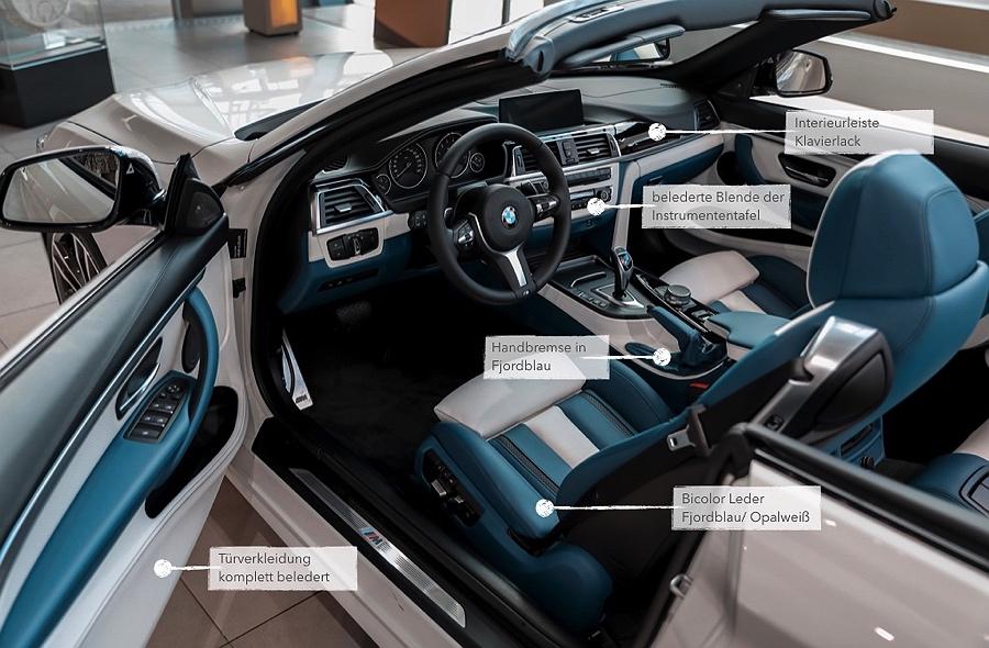 BMW Individual Instrumententafel lederbezogen